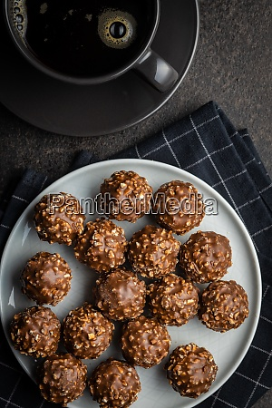 sweet chocolate truffles tasty belgian pralines