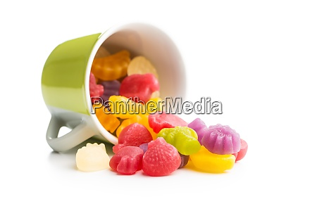 colorful fruity jelly candies