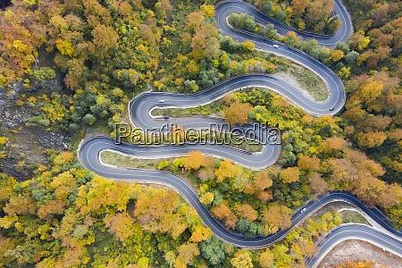 aerial view of road in beautiful
