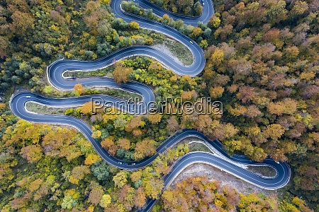 aerial view of road in beautiful