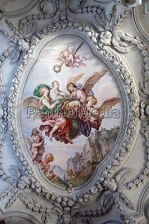 beautiful religious fresco in benediktbeuern germany