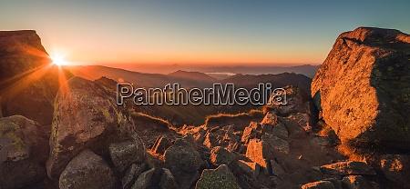 rocky mountain peak mountain landscape at