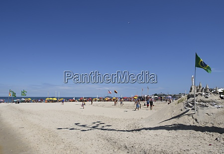 sand construction at copacabana beach rio