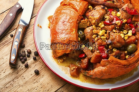 mexican pumpkin with meat