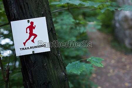 trail running track mark on a
