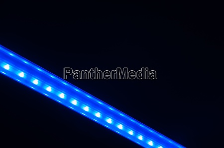 abstract diagonal blue line of lights