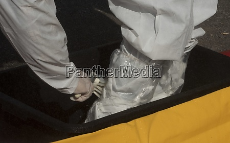 protective suit in the epidemic lock