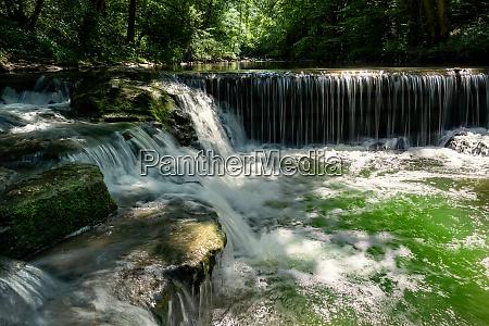 cascades in an idyllic river