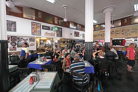 customers at popular old style restaurant