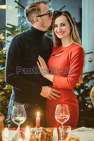 middle aged couple in romantic pose