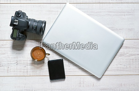 tabletop of a photographer