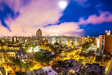 panoramic view over montevideo in uruguay