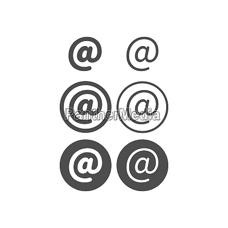 contact address mail icon design