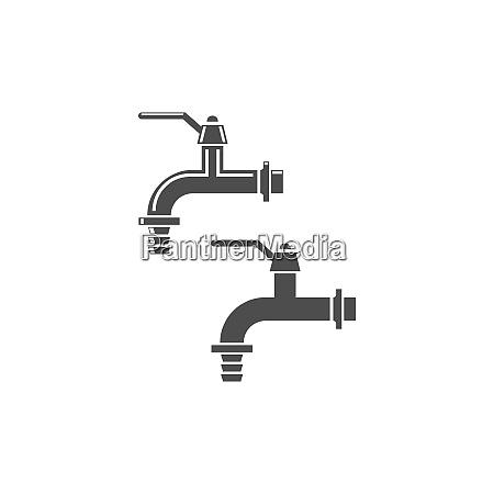 faucet icon design template