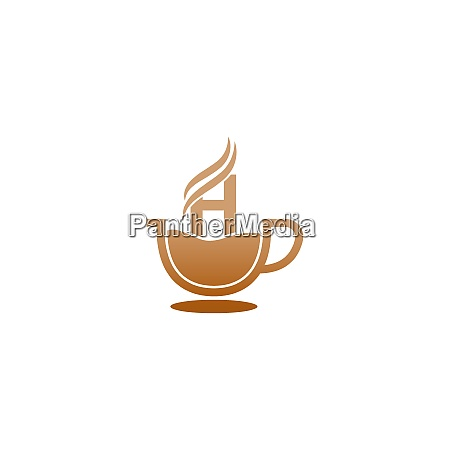 coffee cup icon design letter h
