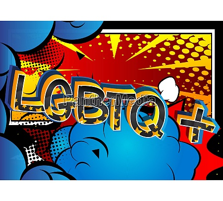 super lgbtq comic book style cartoon