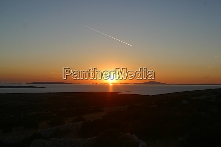 sundown adriatic sea croatia
