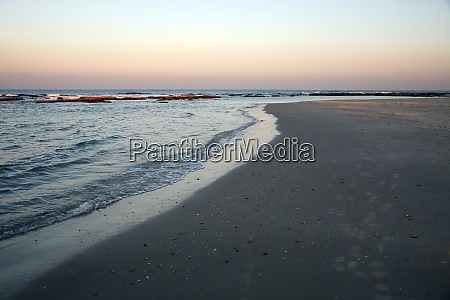 beach at sundown caesarea israel