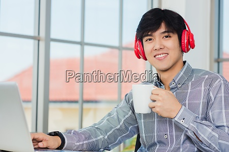 man lifestyle smile relax holding a