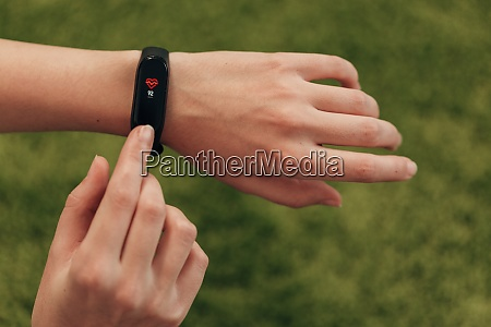 smart watch on a human hand