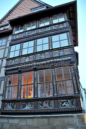 half timbered house in hildesheim