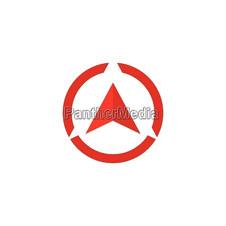 compass icon template vector icon illustration