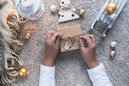 christmas background with cozy winter atmosphere