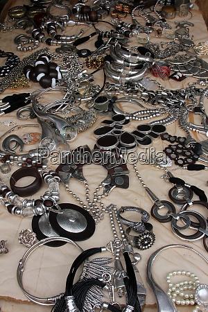 jewelry at flea market paris france