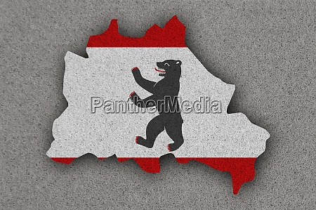 map and flag of berlin on