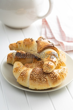 salted croissant bun homemade pastry