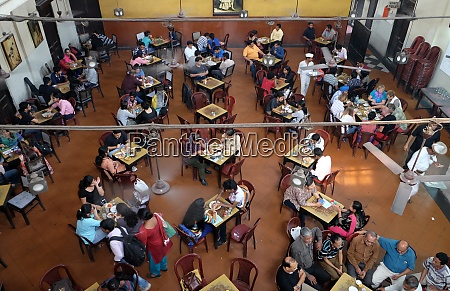 visitors of popular indian coffee house