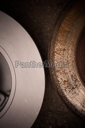 car worn and rusty brake disk