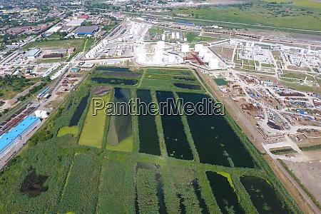 the sewage treatment plant in slavyansk