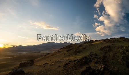 mountains and hills altai in autumn