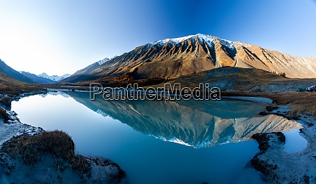 lake in altai mountains panorama of