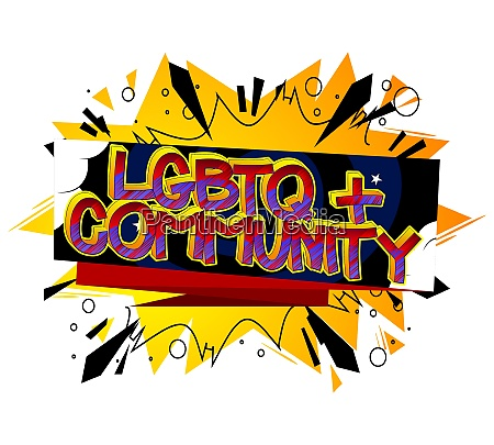 lgbtq community comic book style cartoon