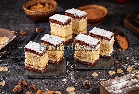 homemade layered mini sponge cake
