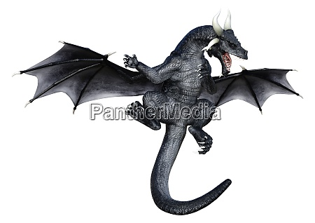 3d rendering fairy tale dragon on