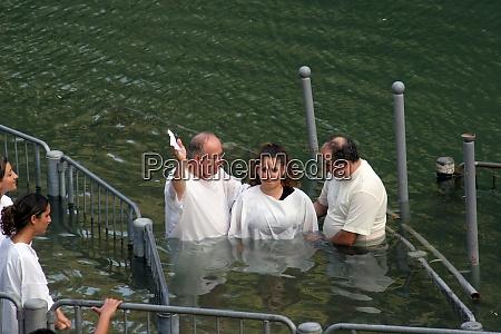 baptismal site at jordan river shore