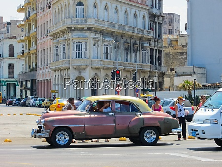 vintage retro cars on the streets