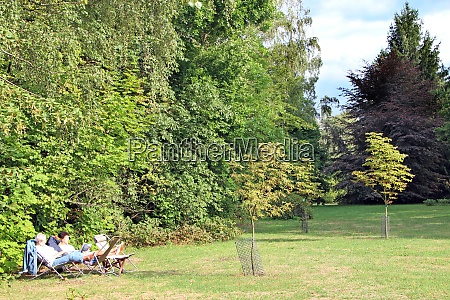 two women pensioners are resting in