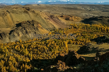 the altai mountains landscape of nature