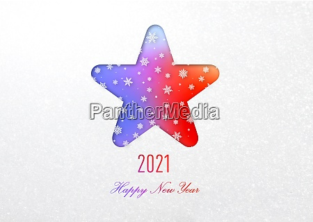 happy new year 2021 rainbow card