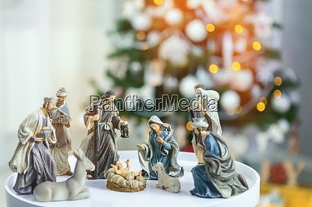 christmas nativity scene jesus christ mary