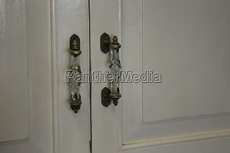 vintage retro wooden white door