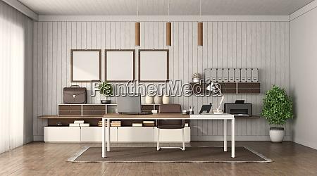 minimalist office with modern furniture