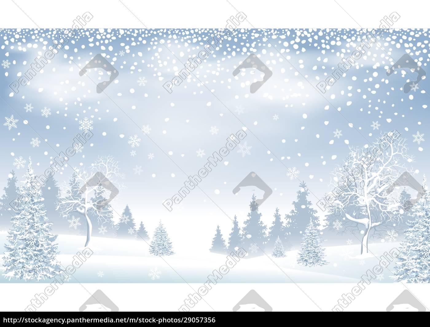 winter, landscape, forest, snow, snowflakes - 29057356