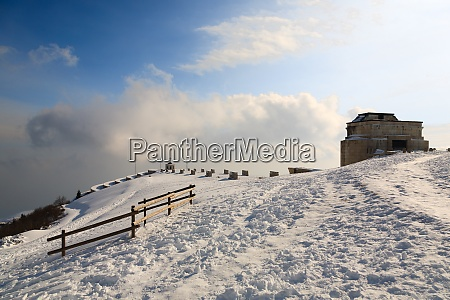 war memorial landmark italian alps mount