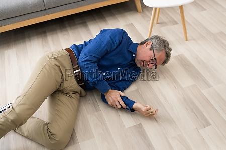 old senior fallen man elderly slip
