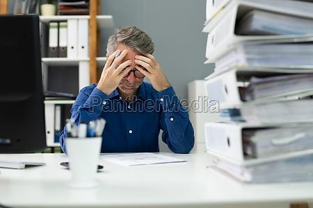 unhappy tired sad employee